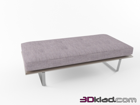 3d модель luggage bench Minotti