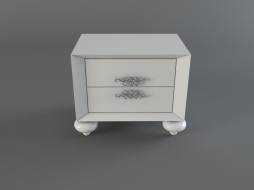 nightstand, white lacquer