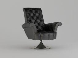 leather chair in the art Deco style B141 80