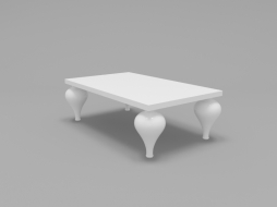 coffee table white lacquer FB.CT.PL.47