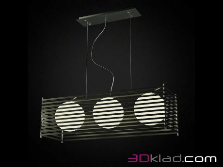 3d модель Потолочный светильник Black Parallel Possini Euro Rectangle Chandelier Possini Euro Design