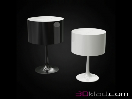 3d model table lamp SPUN LIGHT T FLOS