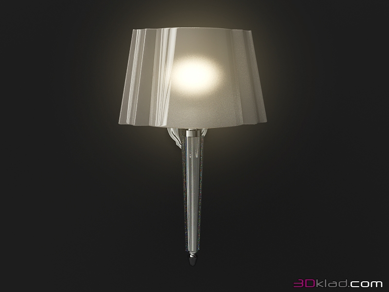 3d model wall lamp for home bathroom crystal devon devon