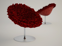 a chair with a high foot in the form of bouquet Bouquet red download