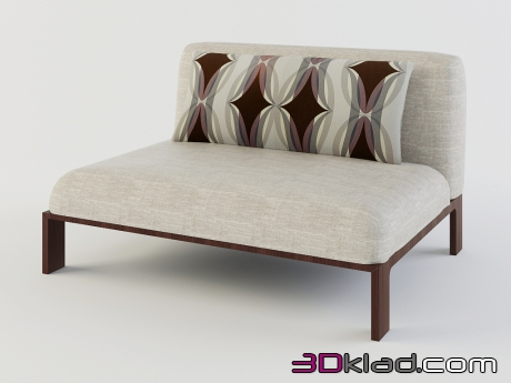 3d model easy chair without armrests Fergana download Moroso