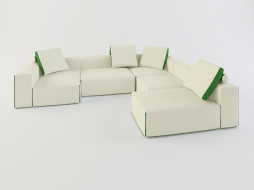 corner modular sofa in colour Field download