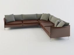 large corner sofa in leather upholstery Gentry download