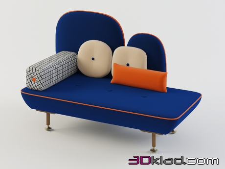3d model sofa-bench upholstery color textiles My Beautiful Backside Moroso