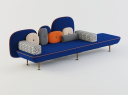 long sofa bench with cushions in bright trim My Beautiful Backside download