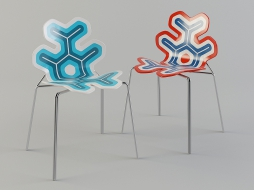 chair with metal legs in the style of hi-tech Nanook download
