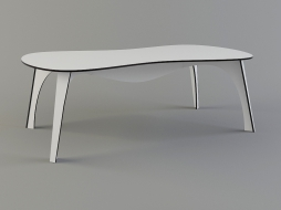 white table with a rounded top No Waste download