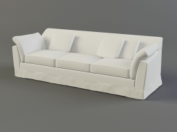 white two-seater sofa in textile upholstery Orazio download