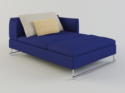 daybed in dark blue upholstery with decorative pillows Shanghai Tip download