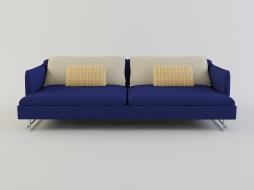 blue fabric three seater sofa Shanghai Tip download
