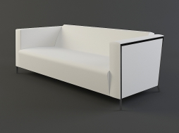 double white sofa on chrome legs Steel download