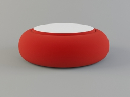 red large round pouf Sushi Collection download