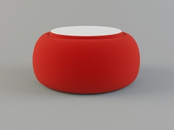 low round stool bright red upholstery textiles Sushi Collection download