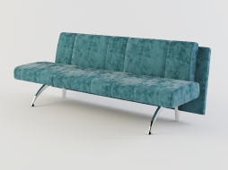double sofa-bench in the textile upholstery Waiting to download
