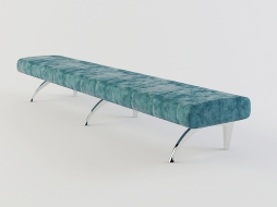 long bench in a soft velvety upholstery Waiting to download