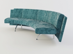 semi-circular sofa bench upholstered in a soft Waiting download