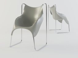 a chair with a wavy surface of the Wavy download