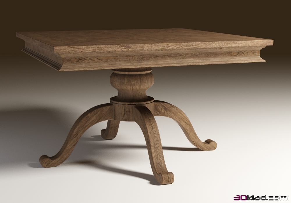 3d Model Square Dining Table In A Classic Style Chateau Belvedere Small Dining Table Curations Limited