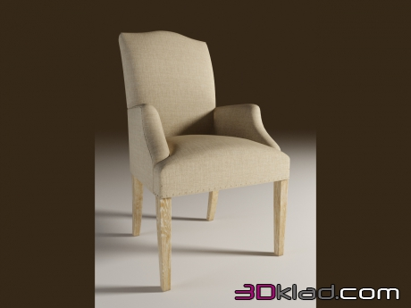 3d model Dining chair with armrests LIMBURG ARM CHAIR Curations Limited