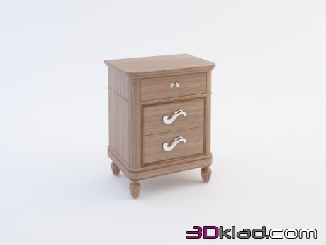 3d model bedside table download Cavio