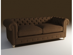 Straight sofa in classic style 90
