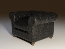 Chair in classic style on carved legs CIGAR CLUB ARMCHAIR