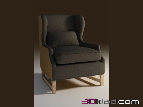 3d model Armchair with low armrests ARMCHAIR GRACIA Curations Limited