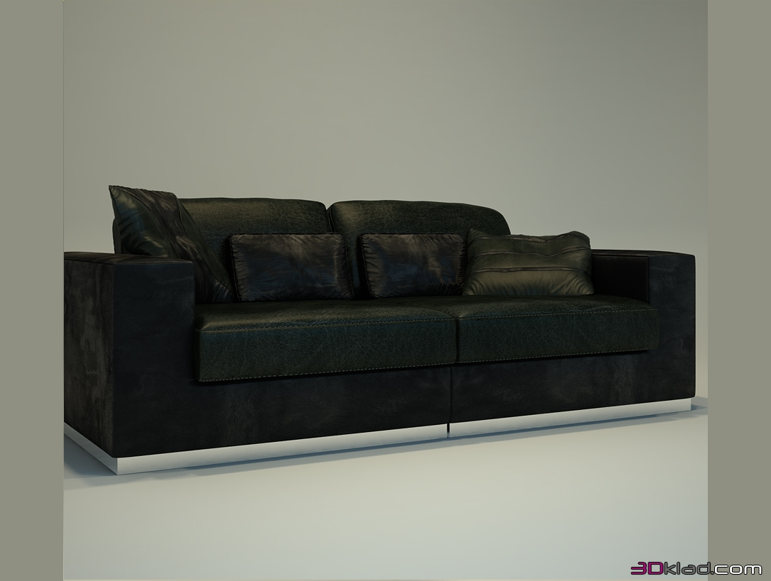 Sensational 3D Model Leather Sofa With Metal Base Cimarosa Giovanni Sforza Ocoug Best Dining Table And Chair Ideas Images Ocougorg