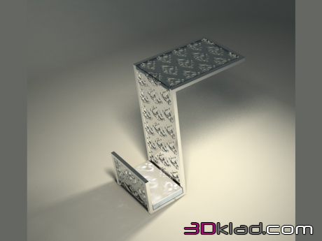 3d model Side table shaped in the art Deco Tourandot Z04 Giovanni Sforza