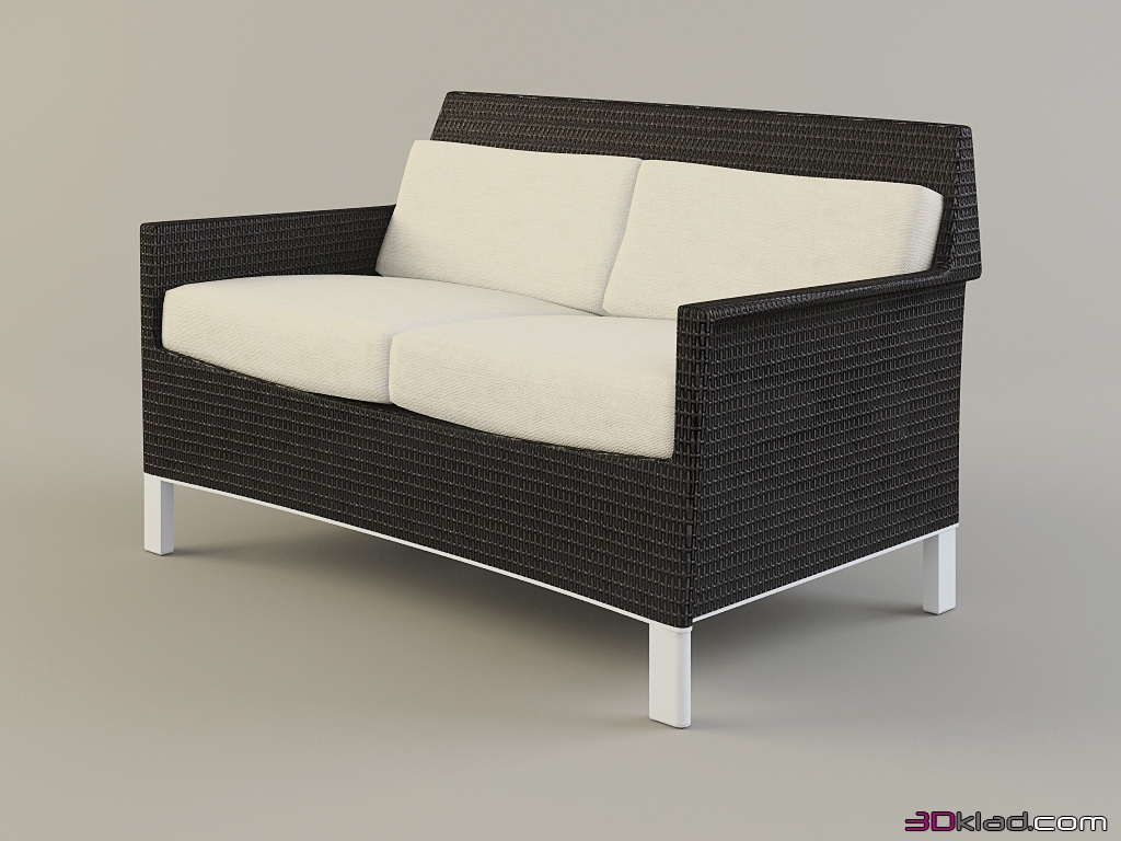 street double wicker sofa Biarritz » Garden and outdoor furniture