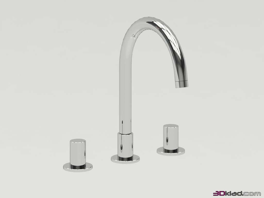 mixer with high spout and round handles » 3d models of