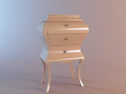 narrow chest of drawers on legs