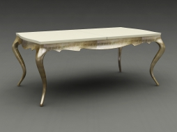 dining table with silver legs