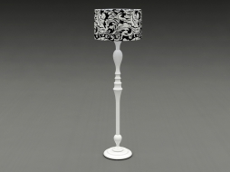 lamp on a lacquered curly leg