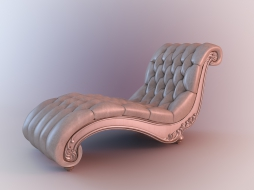 couch on curved base