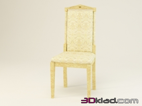 3d model Chair in light design with ornate trim Т375 Turri