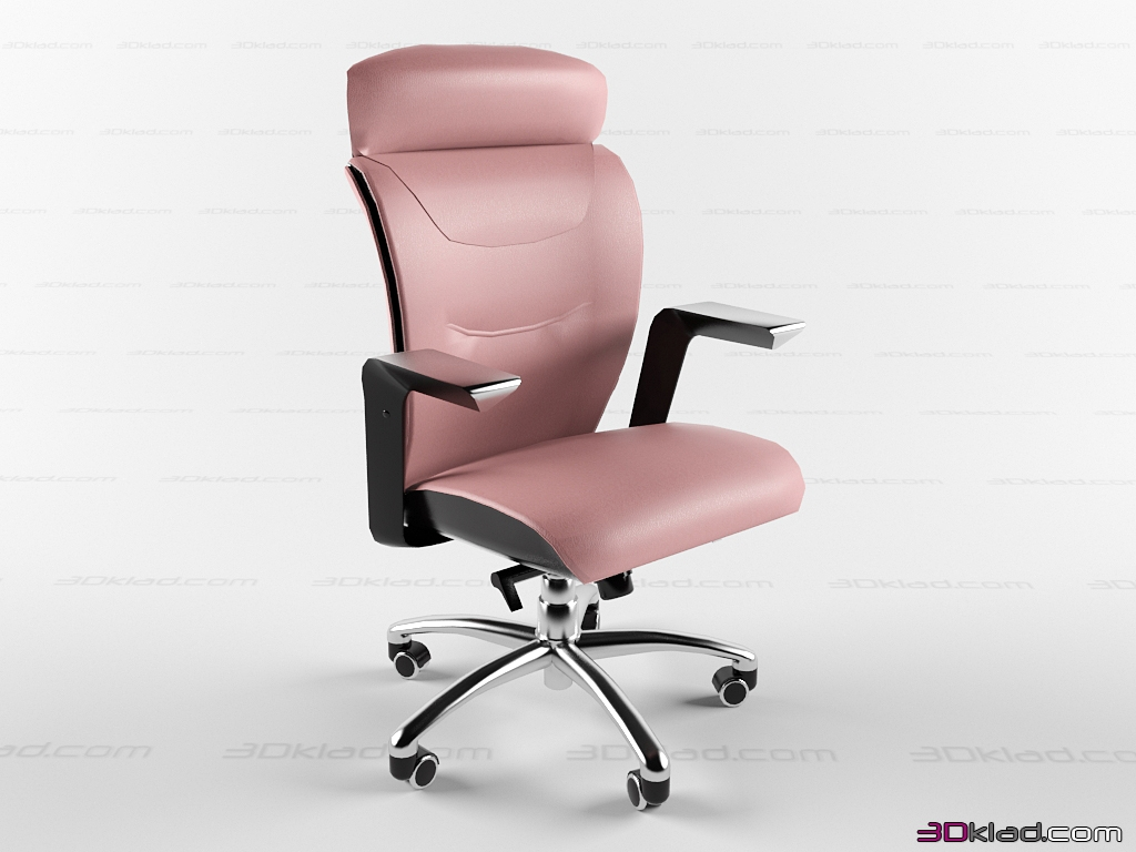 Poltrona Frau Brief.3d Model Office Chair On Chrome Base Brief Poltrona Frau