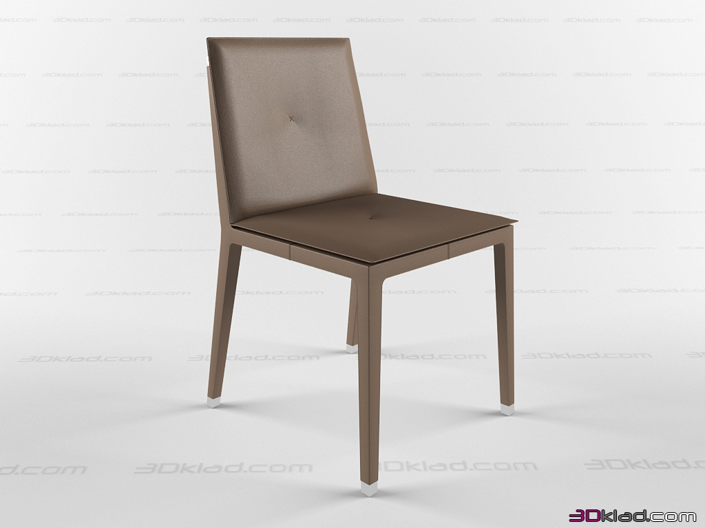Fitzgerald Poltrona Frau.3d Model Simple Contemporary Chair Upholstered With Leather