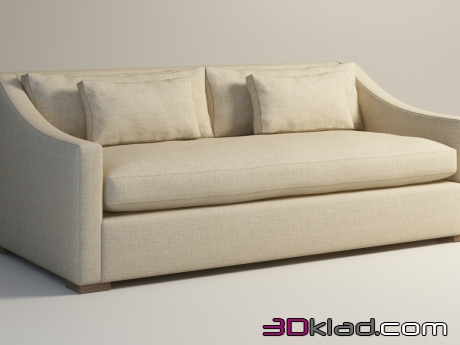 3d модель диван PUFFY SLEEPER SOFA 104.001-SB-F01 Gramercy home