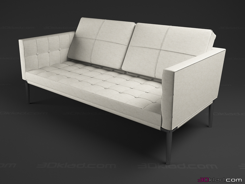 double sofa Volage » sofa 3d models » 3d furniture models for 3d max