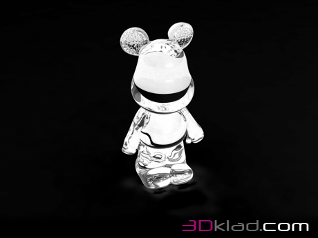 3d модель копилка Funky Bear Crystal Big Accent