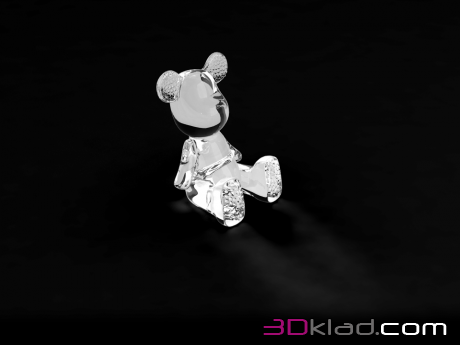 3d модель копилка Funky Bear Crystal Sit Accent