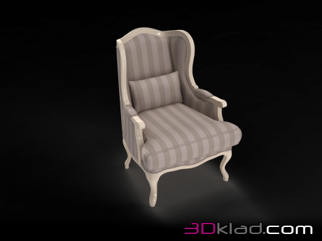 3d модель кресло Villa Grandfather Stripes Accent