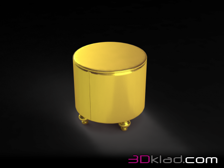3d модель пуф Shining Gold Accent