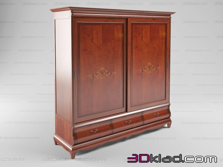 3d model two-door dresser Madeira 416 Cavio