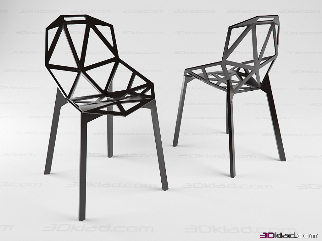 konstantin grcic chair one 3d. Black Bedroom Furniture Sets. Home Design Ideas